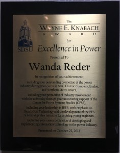 2012 SDSU Wayne Knabach Award for Excellence in Power